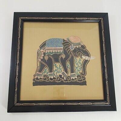 Elephant Paper Art Black Framed 13