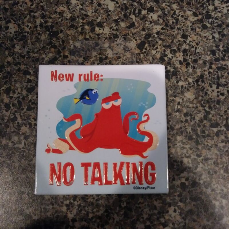 New Rule: No Talking Finding Dory Hank The Octopus Septopus Magnet