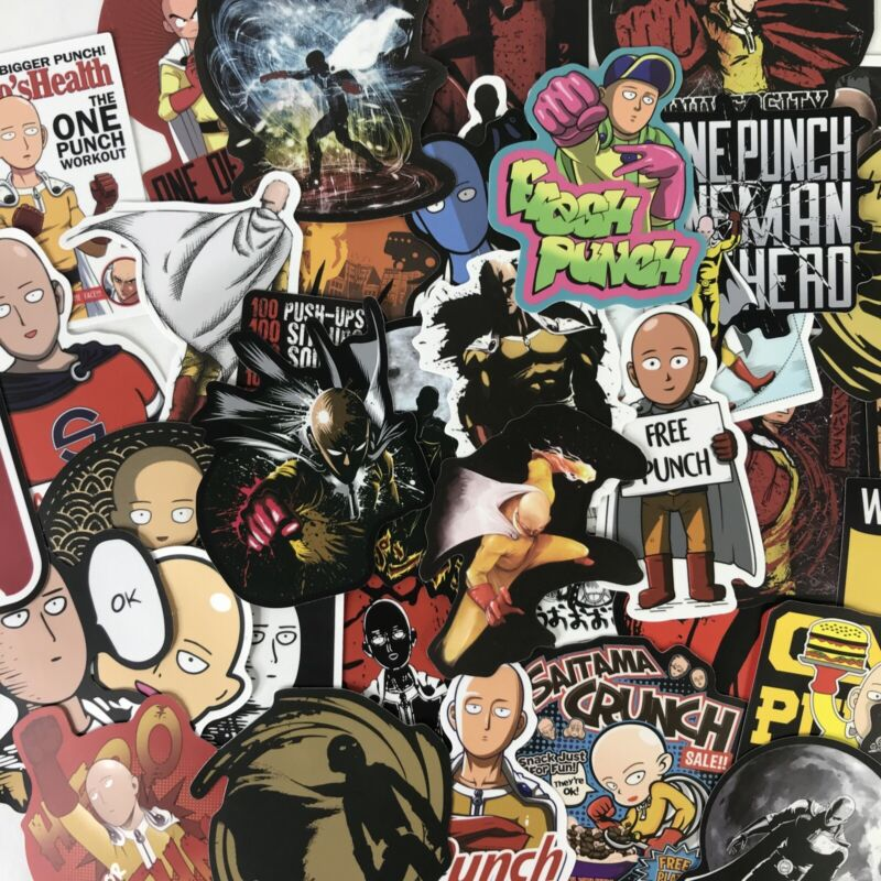 100pc One Punch Man Saitama Anime Guitar Laptop Notebook Decal Stickers Pack