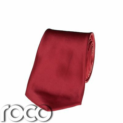 Boys Plain Red Long Satin Tie for Formal Suits, Communion Tie 3 - 15 - Communion Ties For Boys