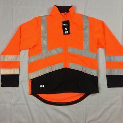 Mens S L Helly Hansen Alta Jacket Coat Workwear Warning Orange Reflective Work