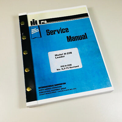 International Hough H-25b Tractor Pay Loader Service Repair Shop Manual Wheel
