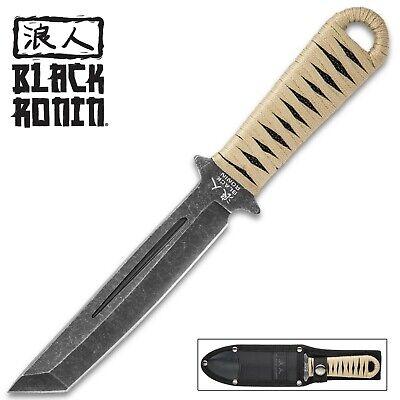 Black Ronin Tanto Boot Knife - Heavy Duty Nylon Sheath New UC3273 Kick Nylon Sheath