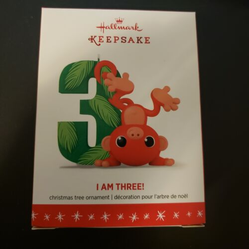 I Am Three - 2016 Hallmark Keepsake Ornament - NEW IN BOX - Free Shipping