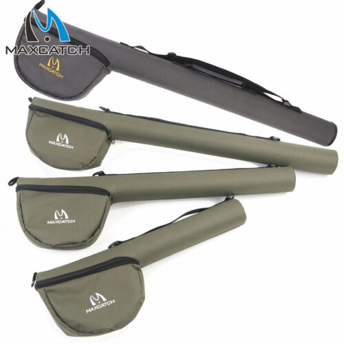 Maxcatch Fly fishing rod Tube with reel pouch Cordura rod case For 9ft,7.5ft Rod