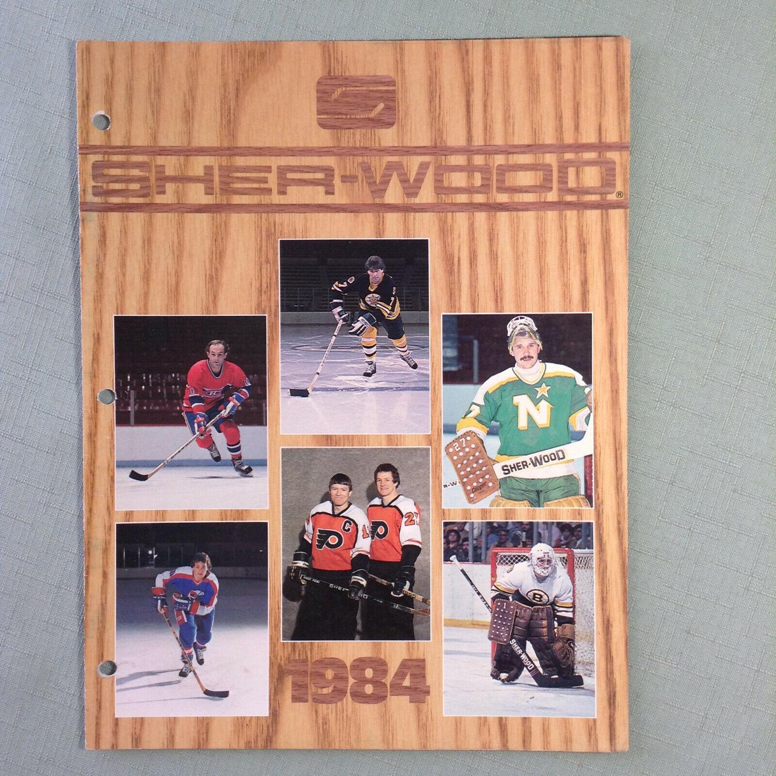 1984 Sherwood Hockey Stick Catalog RARE Clarke Sittler Bourque Lafleur Hawerchuk