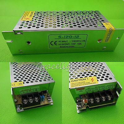 Switching Power Supply 12v 10a 120w Ac100-240v To Dc12v Led Strip Driver Adapter