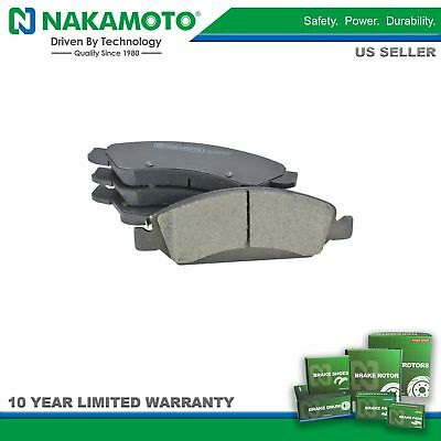 Nakamoto Brake Pad Premium Posi Ceramic Front LH Left RH Right Set for Chevy GMC
