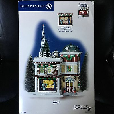 Department 56 Snow Village KBRR TV