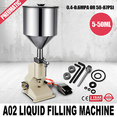 A02 Pneumatic Liquid Paste Filling Machine 550ml Cosmetic Bottling Adjustable