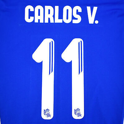 2016-17 Real Sociedad Home Name Set #11 CARLOS VELA for Shirt Jersey