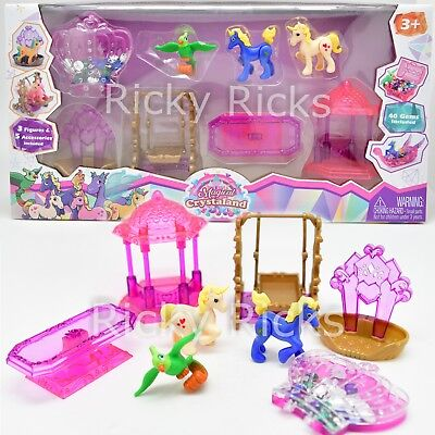 (Little Pony Playset Magical Crystal Castle Empire Friendship Gems 48 Piece Set)