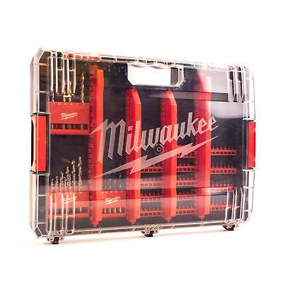 Milwaukee Heavy Duty Zubehör Case 100-tlg. Bits + Bohrer  Kompatibel mit HD-Box