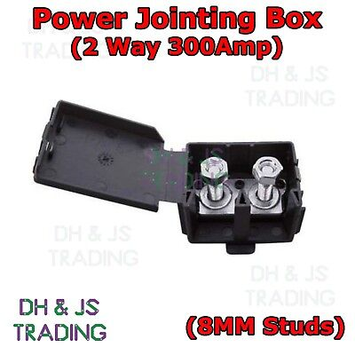 Power Jointing Box 300A Wiring Connector Wire Cable 300AMP Car Auto Marine 2 Way