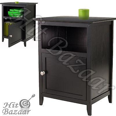 منضدة جانب السرير جديد Nightstand End Table Bedside Night Stand Furniture Drawer Shelf Bedroom Storage