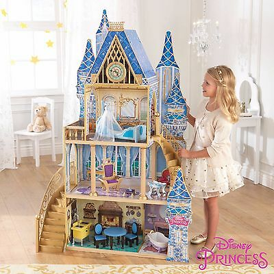 Disney Princess Cinderella Royal Dreams Dollhouse with Furniture by KidKraft NEW