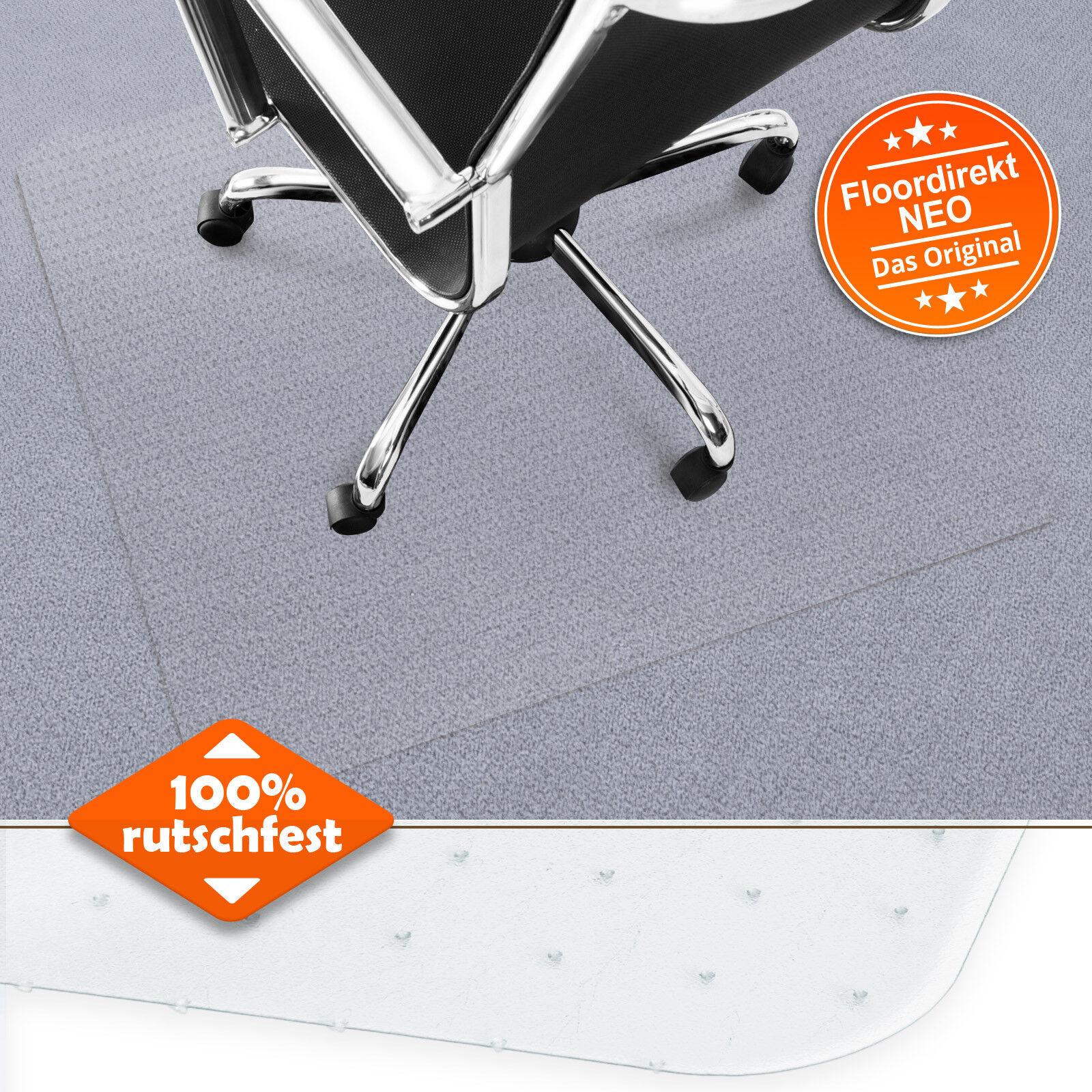 Bodenschutzmatte Neo für Teppichböden Bürostuhlunterlage Stuhlmatten Bürostuhl