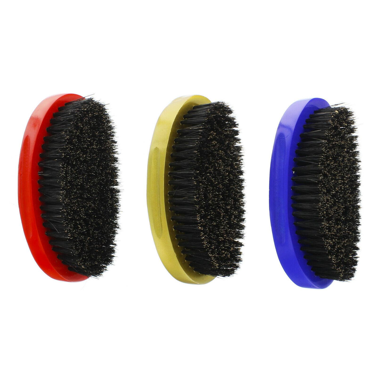 SOFT HARD Premium Boar Bristle Curved Wave Palm Hair Brush W