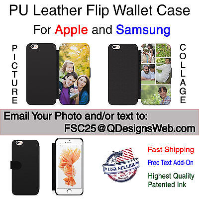 Personalized Photo Picture Wallet Leather Case Cover for iPhone Samsung Gift