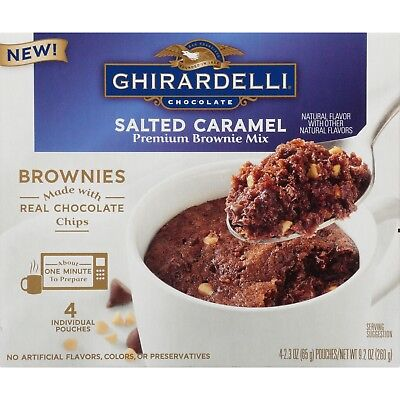 Kosher Brownie - Ghirardelli Salted Caramel Mug Brownie Mix, 9.2-Ounce (2 Boxes)