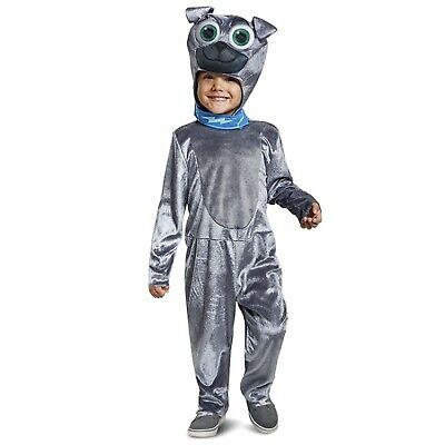 Boys Disney Puppy Dog Pals Bingo Pug Halloween Costume Child Toddler 2T 3T 4T 6