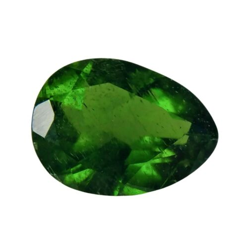 1.14 ct. RUSSIAN DIOPSIDE NATURAL CHROME GREEN LOOSE GEMSTONE PEAR