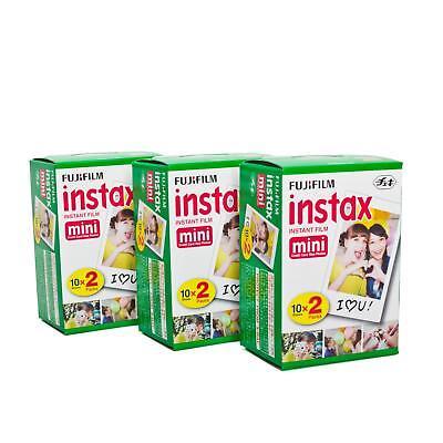 Fuji Instax Mini Film Sofortbildfilm 3x Doppelpack 60 Bilder Instant 8 9 25 70
