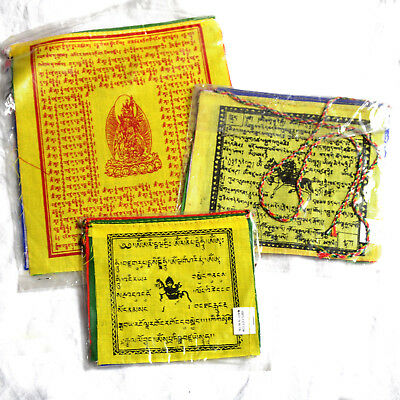 Buddha Wind Horse Cotton Different Size 3 Rolls Prayer Flag Wholesale Lot W2445