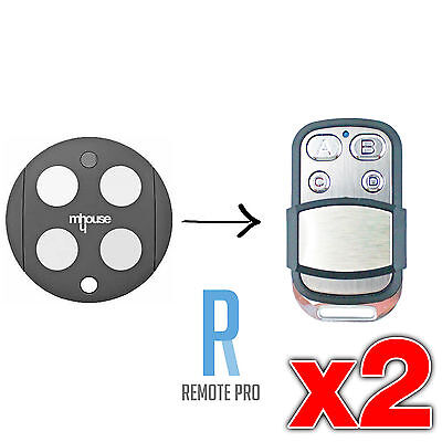 2 x Mhouse/MyHouse Door Gate Remote Control Compatible GTX4 G TX4 433.92mhz