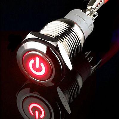 16mm Rot 12V 3A LED Verriegelung ein / aus Metall Push Button Schalter Auto Boot - Verriegelung Aus Metall