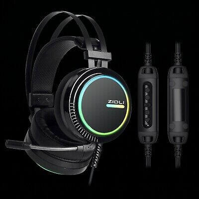 BEST 7.1 Surround Sound Gaming Headsetwith RGB lights ZIDLI ZH11 for