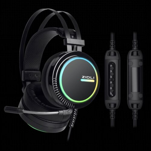 7.1 Virtual Surround Sound  Gaming Headsetwith RGB lights ZIDLI ZH11 for PS4/PC