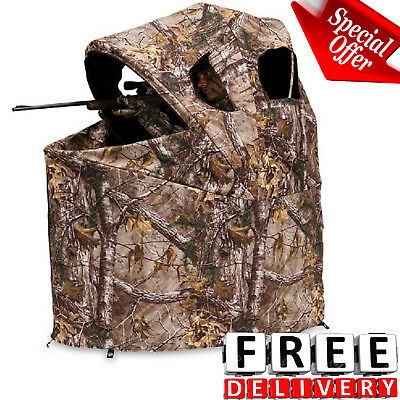 Ameristep Stand Hunting Blinds - Hunting Chair Blind Tent Realtree Xtra Camo Shooting House Deer Ground Stand