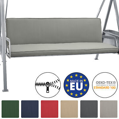 2 Set Bench Cushions Canopy Swing Seat Pads For 3 Seater Foam Pannel Light Grey