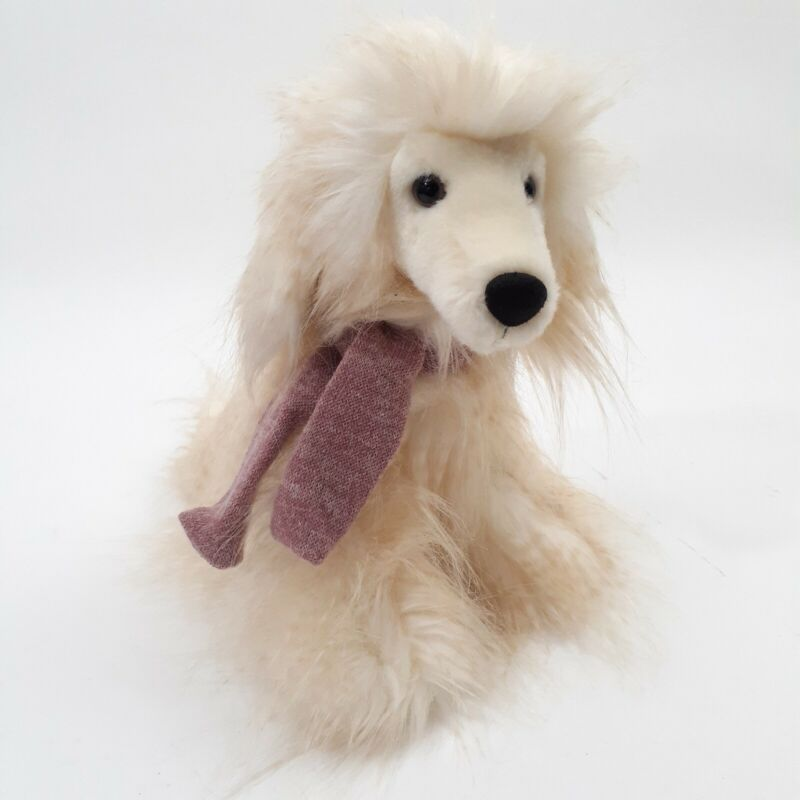 Aurora Target Be Mine Valentine Frosted White Plush Afghan Hound Dog Purely Lux