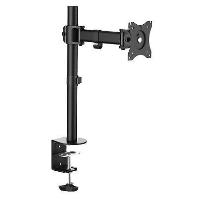 Single Monitor Fully Adjustable LED LCD TV Swivel Desk Mount 21 22 23 24 26 27
