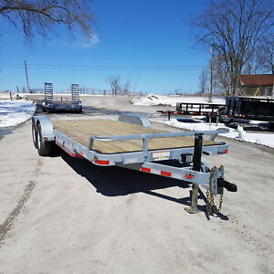 2018 ED Trailers 7' X 20' Galvanized 5 Ton Equipment/Carhauler