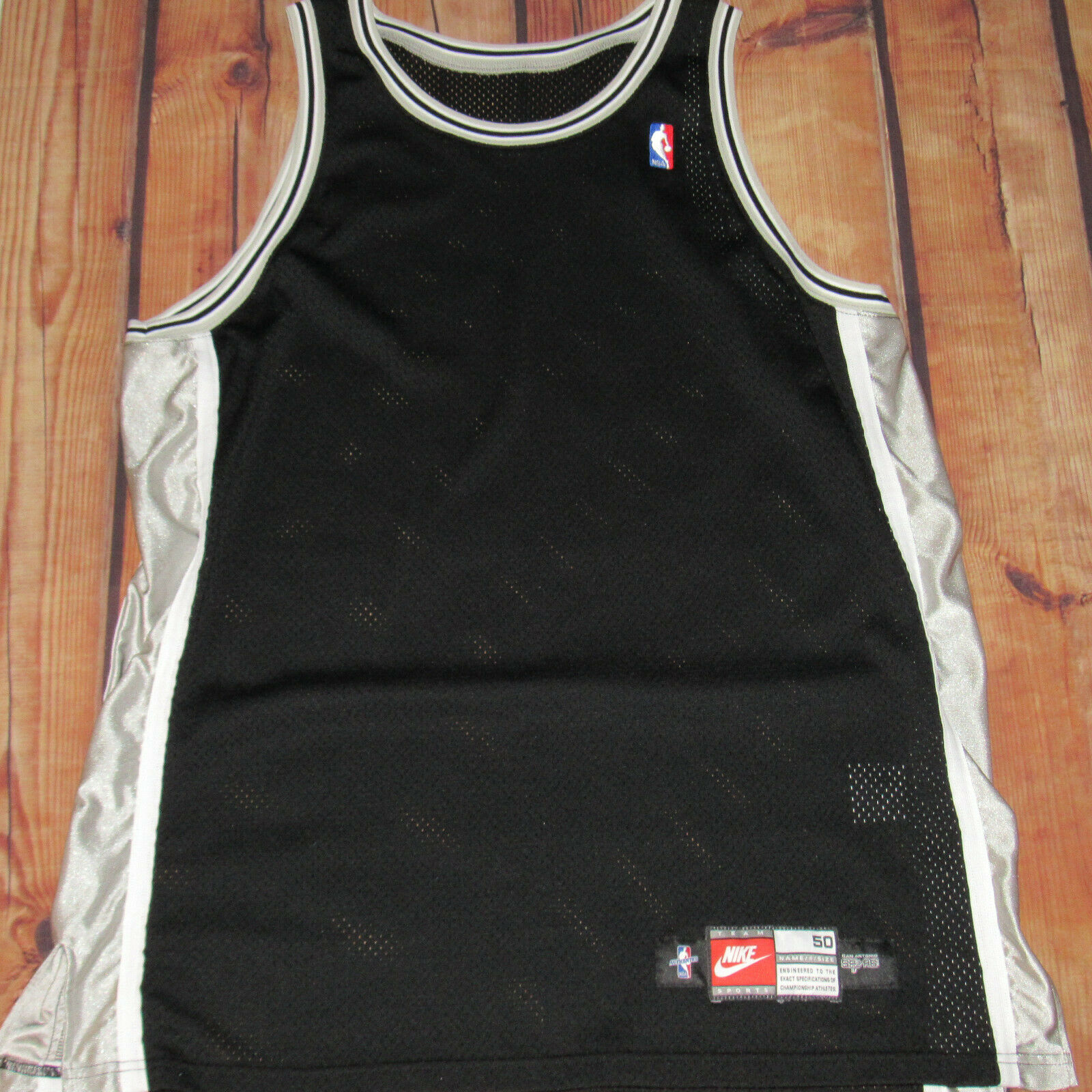 Nike San Antonio Spurs Pro Cut Game Issued Blank Jersey 1998