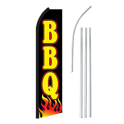 Bbq Blackyel - Advertising Sign Swooper Feather Banner Flag Pole Only