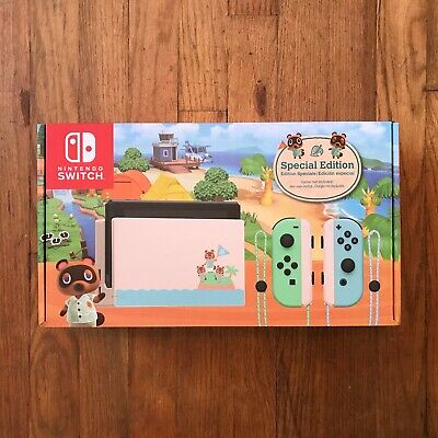 New & Sealed Nintendo Switch Animal Crossing: New Horizons Edition 32GB Console
