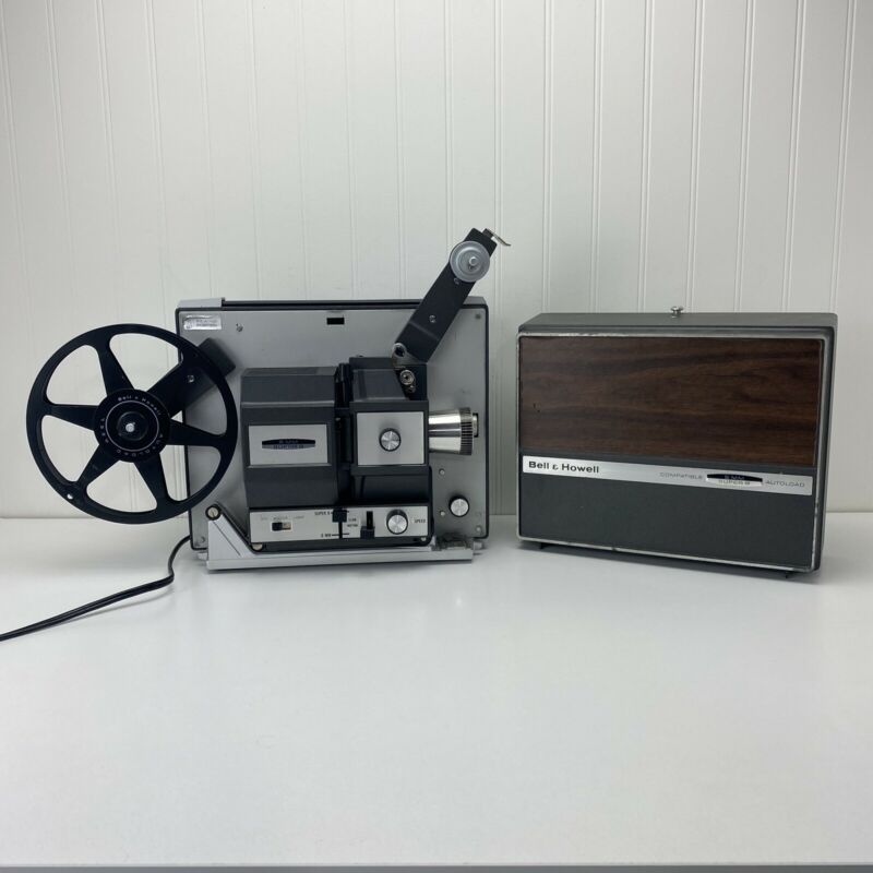 Bell & Howell 466A Autoload Dual 8mm/ Super 8mm Movie Projector Tested & Working