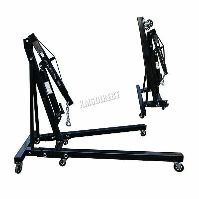 FoxHunter 2Ton Hydraulic Folding Engine Crane Stand Hoist lift Jack SX0105 Black