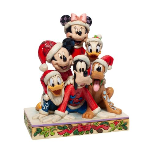 Jim Shore DISNEY TRADITIONS Christmas MICKEY AND FRIENDS Stacked 6007063 NEW