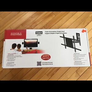 TV bracket wall mount - needs only one stud!