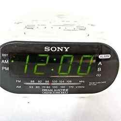 Sony Dream Machine AM/FM Dual Alarm White Clock Radio Model ICF-C318 TESTED