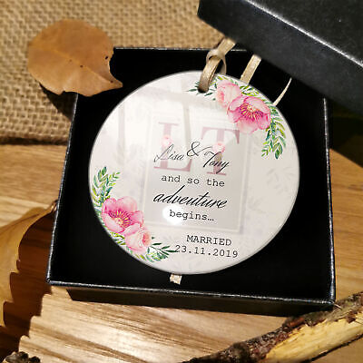 Hochzeit Verlobung Married Paar Blumenmuster Kugel Geschenke (Personalisierte Wedding Party Geschenke)