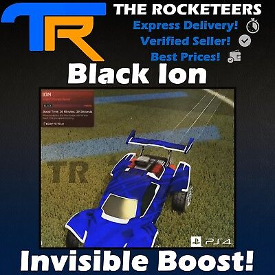 [PS4/PSN] Rocket League Black ION INVISIBLE Import boost Painted Cheapest (Cheapest Paint)