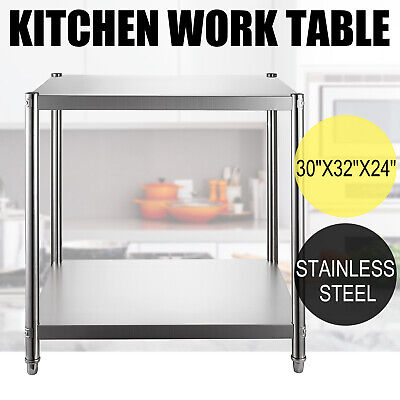 24x30 Stainless Steel Kitchen Work Prep Table Bench Commercial Food Restaurant