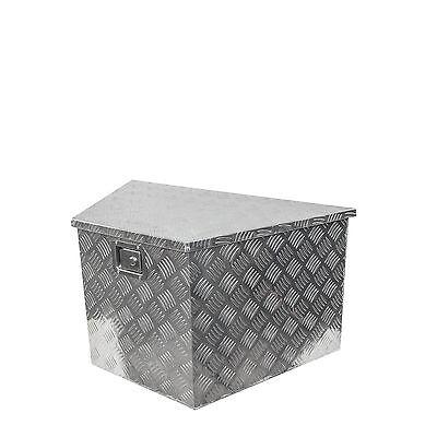 Alu-Staubox für V-Deichsel 500 x 600 x 300 x 350 mm, für Anhänger, Werkzeugkiste