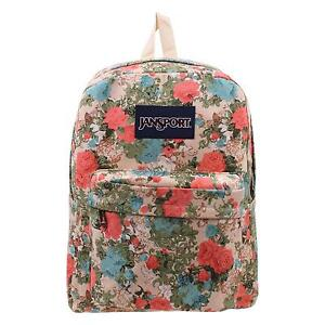 Canvas backpack ebay floral canvas backpacks gumiabroncs Choice Image